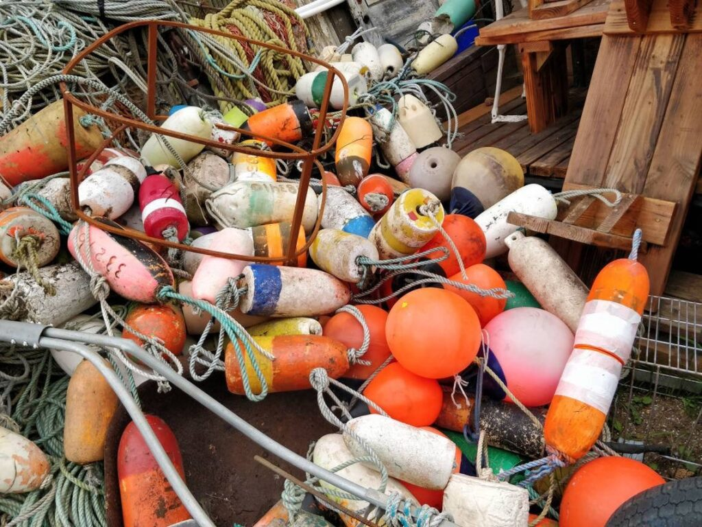 fishing buoys and rope